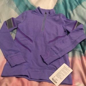 Ivivva Glow and Go Pullover Purple size 12 NWT